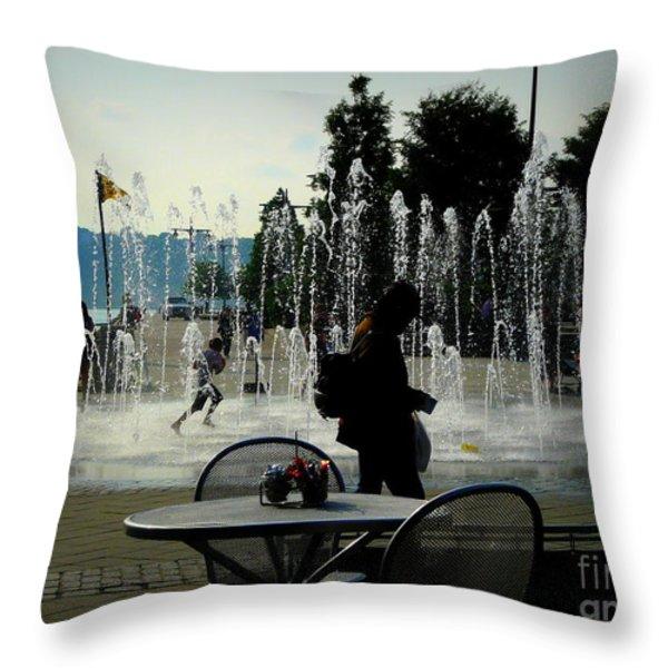 Summertime Fun Throw Pillow by Avis  Noelle