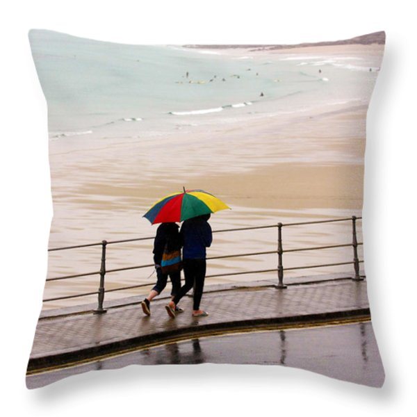 Summertime In England Throw Pillow by Terri Waters
