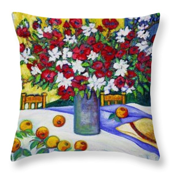 Summertime Table Throw Pillow by Gunter  Hortz