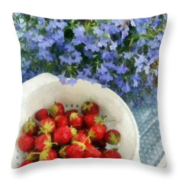 Summertime Table Throw Pillow by Michelle Calkins