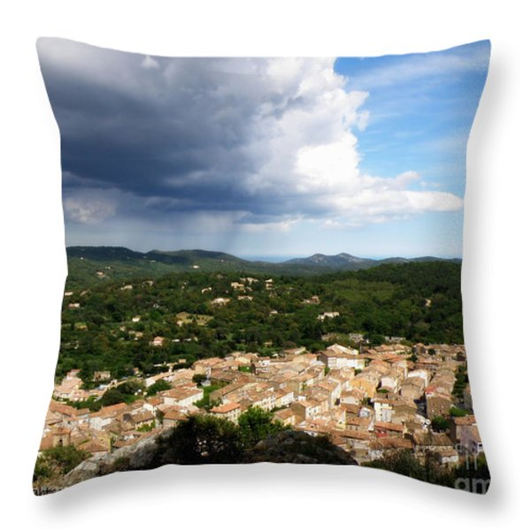 Sun and Rain Throw Pillow by Lainie Wrightson