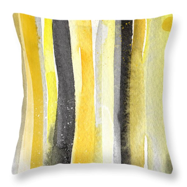 Sun and Shadows- abstract painting Throw Pillow by Linda Woods