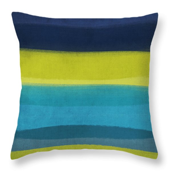 Sun and Surf Throw Pillow by Linda Woods