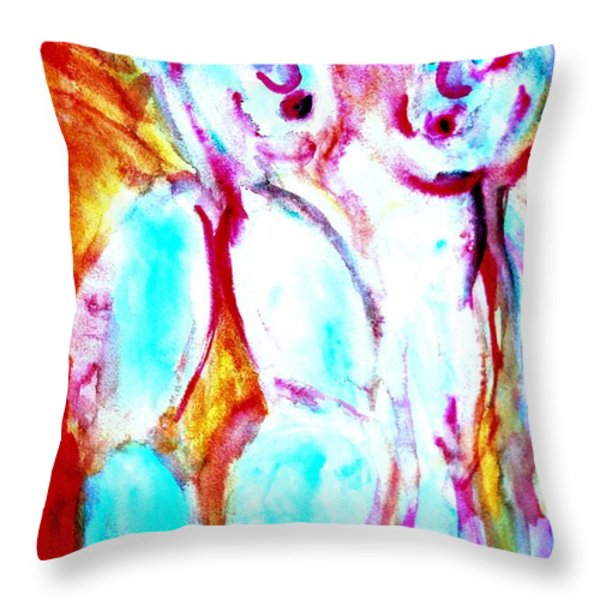 sun burning   Throw Pillow by Hilde Widerberg