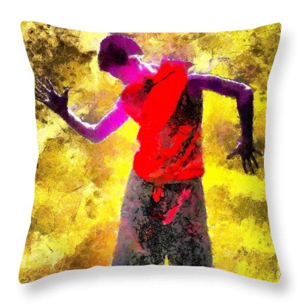 Sun Dance Throw Pillow by Gun Legler