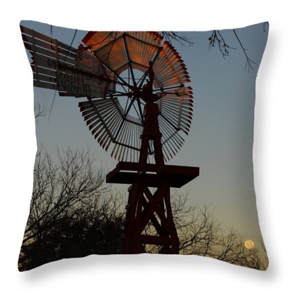 Sun Moon And Wind Throw Pillow by Robert Frederick