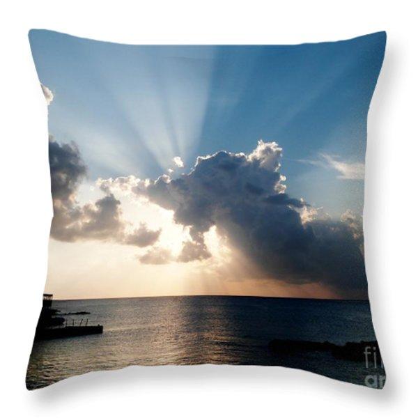 Sun Rays Throw Pillow by Amar Sheow