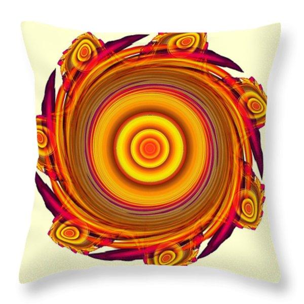 Sun Salutation Throw Pillow by Anastasiya Malakhova