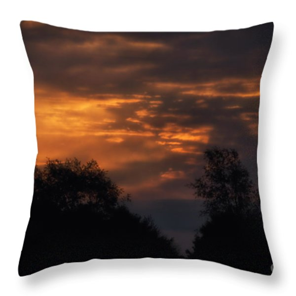 Sun Up Throw Pillow by Thomas Woolworth