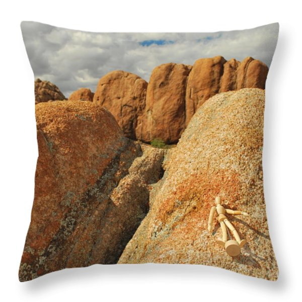 Sunbathing in the Raw Throw Pillow by Heather Kirk
