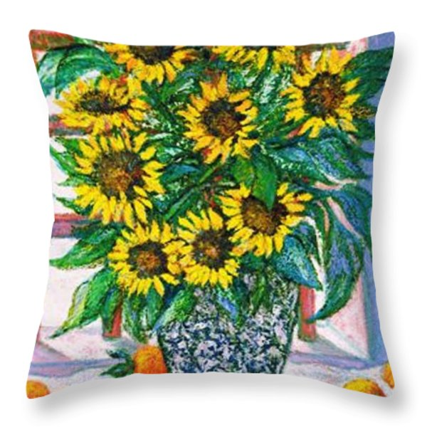 SUNBURST Throw Pillow by Gunter  Hortz