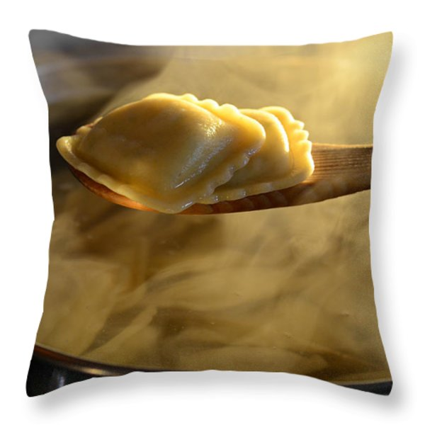 Sunday Dinner Throw Pillow by Laura Fasulo