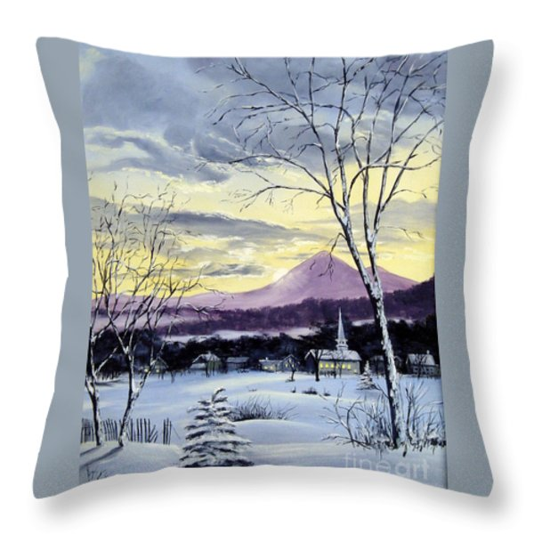 Sunday in Winter Throw Pillow by Lee Piper
