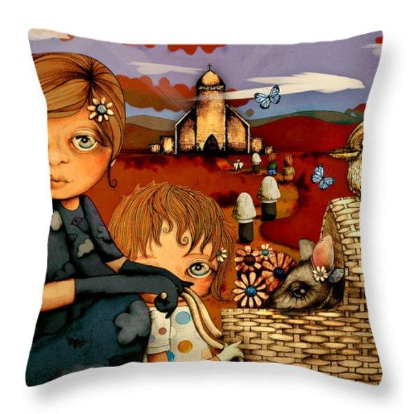 Sunday Throw Pillow by Karin Taylor