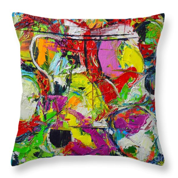 SUNDAY MOOD Throw Pillow by ANA MARIA EDULESCU