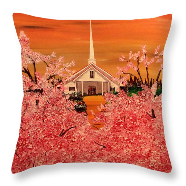Sunday Morning Throw Pillow by Mark Moore
