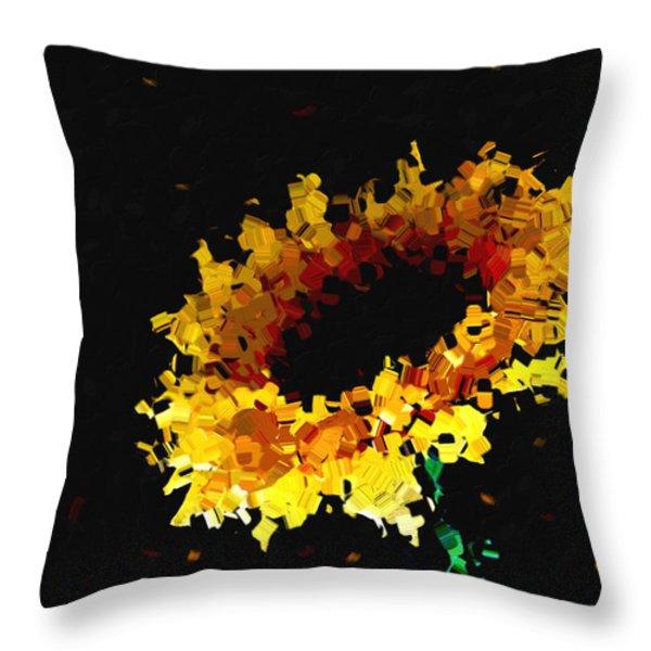 Sunflower Throw Pillow by Ann Powell