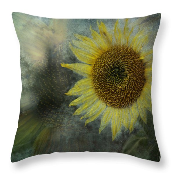 Sunflower Sea Throw Pillow by Belinda Greb