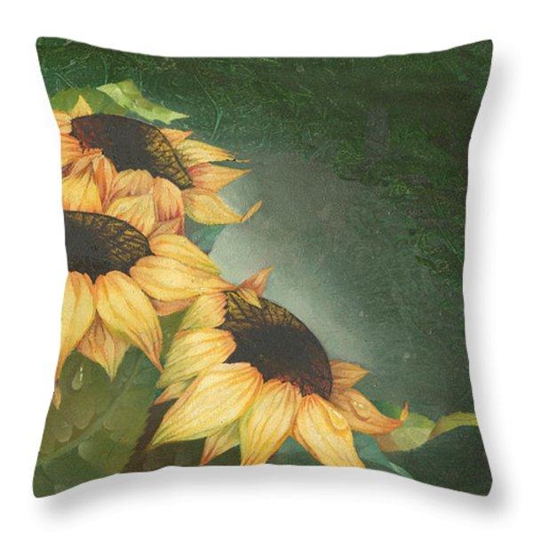 Sunflowers Throw Pillow by Doreta Y Boyd