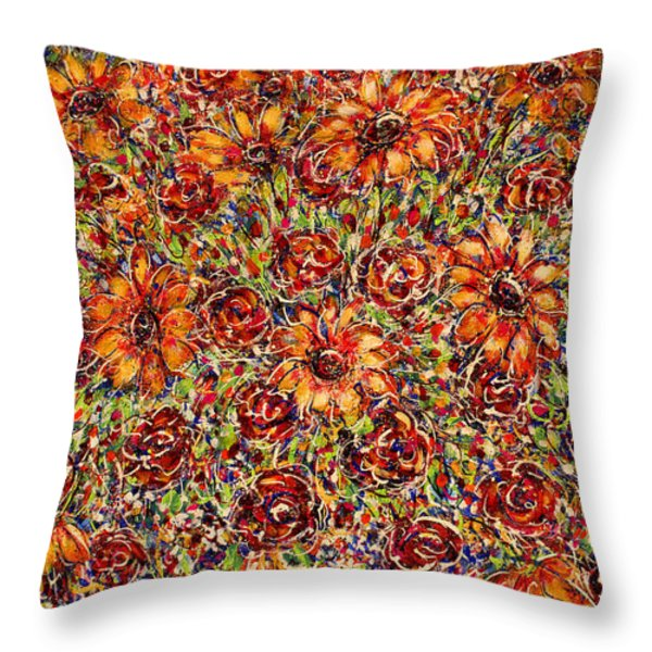 Sunflowers Throw Pillow by Natalie Holland