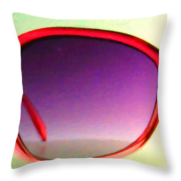 Sunglass - 5D20678 - v1 Throw Pillow by Wingsdomain Art and Photography
