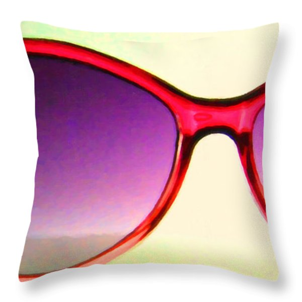 Sunglass - 5D20678 - v2 Throw Pillow by Wingsdomain Art and Photography