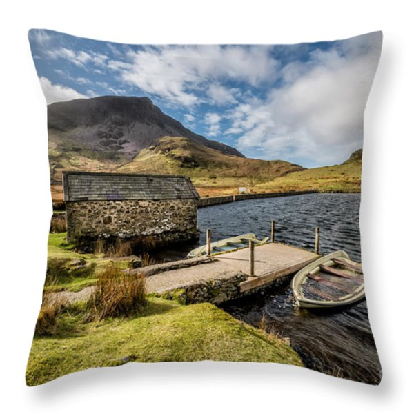 Sunken Boats Throw Pillow by Adrian Evans