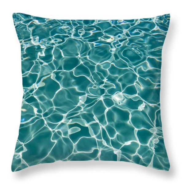 Sunlight Cool Abstract  Throw Pillow by Heidi Smith