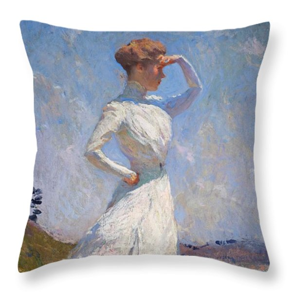 Sunlight Frank Weston Benson 1909 Throw Pillow by Movie Poster Prints