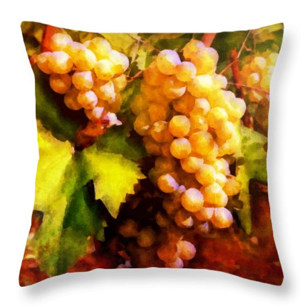 Sunny Grapes - edition 2 Throw Pillow by Lilia D