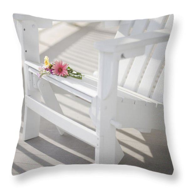 Sunny Porch Throw Pillow by Diane Diederich
