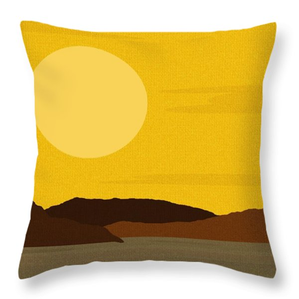 Sunny River Throw Pillow by Val Arie