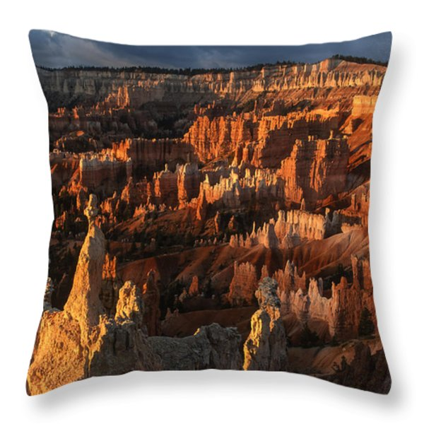 Sunrise At Bryce Canyon Throw Pillow by Sandra Bronstein