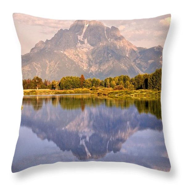Sunrise at Oxbow Bend 2 Throw Pillow by Marty Koch