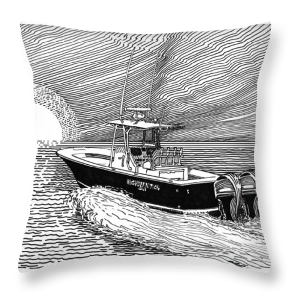 Sunrise fishing Throw Pillow by Jack Pumphrey