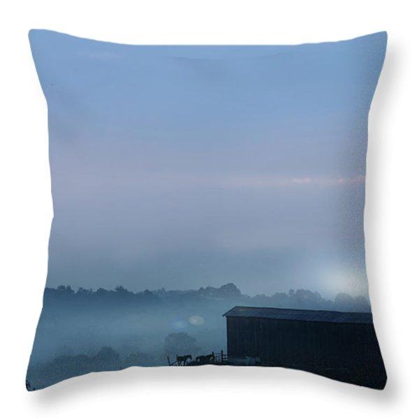 Sunrise In Kentucky Throw Pillow by Stephanie Frey