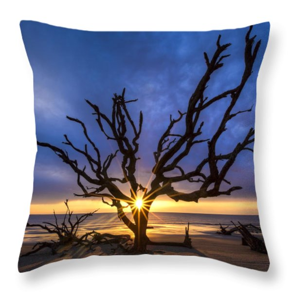 Sunrise Jewel Throw Pillow by Debra and Dave Vanderlaan