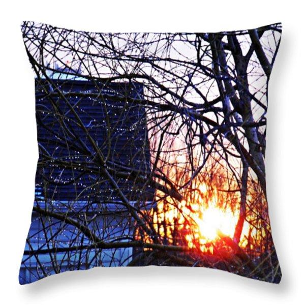 Sunrise Next Door Throw Pillow by Sarah Loft