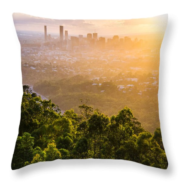 Sunrise Over Brisbane Throw Pillow by Parker Cunningham