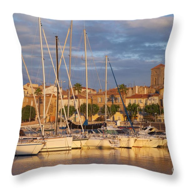 Sunrise over La Ciotat France Throw Pillow by Brian Jannsen