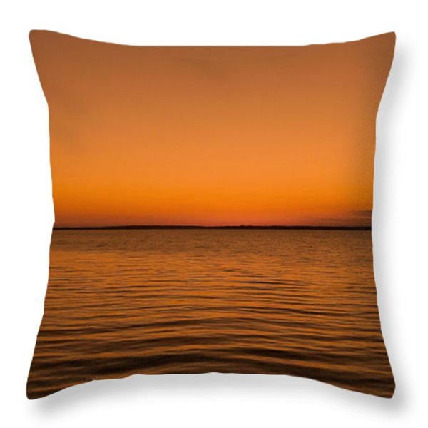 Sunrise Over The Lake Of Two Mountains - Qc Throw Pillow by Juergen Weiss