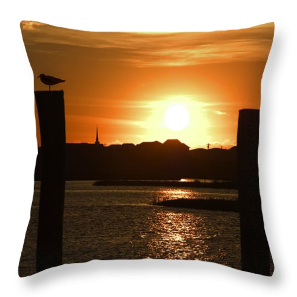 Sunrise Over Topsail Island Throw Pillow by Mike McGlothlen