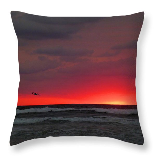 Sunrise Pink Throw Pillow by JC Findley