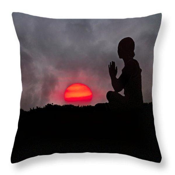 Sunrise Prayer Throw Pillow by Betsy A  Cutler