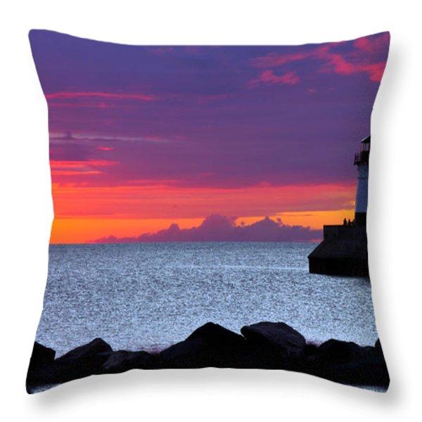 Sunrise Sailing Throw Pillow by Mary Amerman