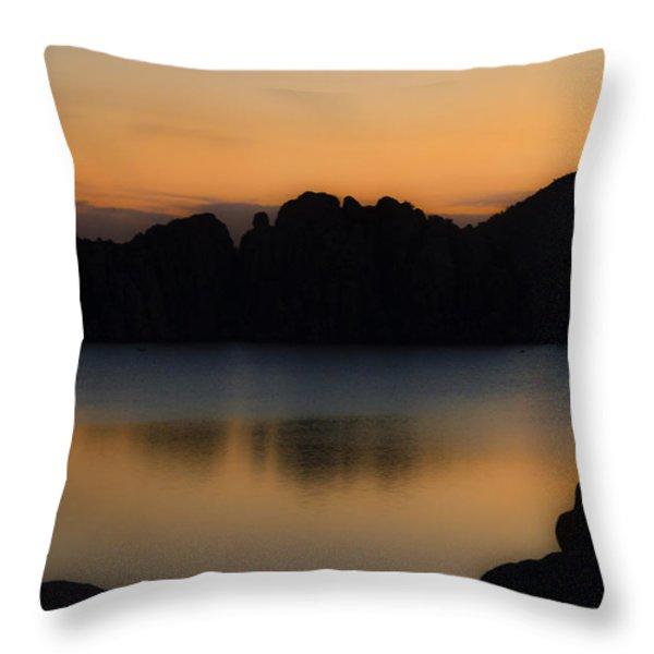 Sunrise Solitude Throw Pillow by Dave Dilli