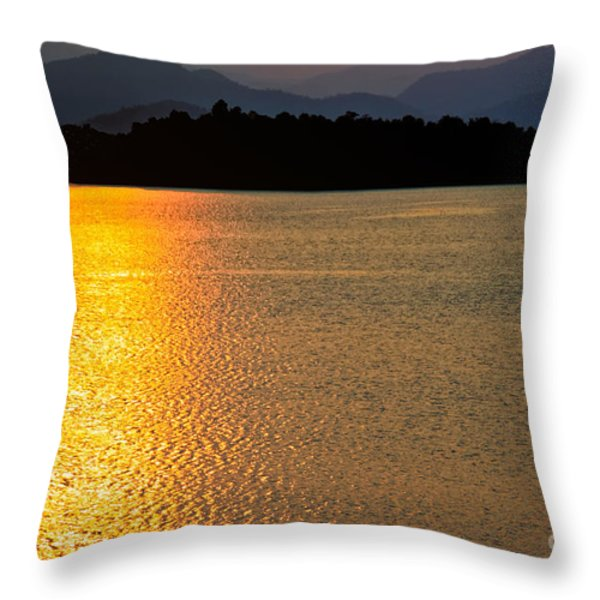 Sunset Asia  Throw Pillow by Adrian Evans