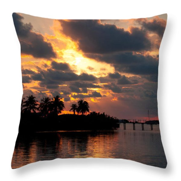 Sunset At Mitchells Keys Villas Throw Pillow by Michelle Wiarda