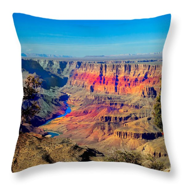 Sunset at South Rim Throw Pillow by Robert Bales