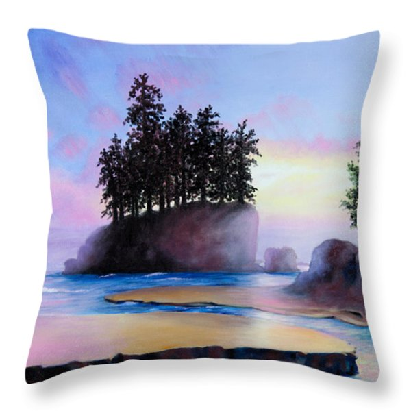 Sunset at Tongue Point Throw Pillow by Shelley  Irish